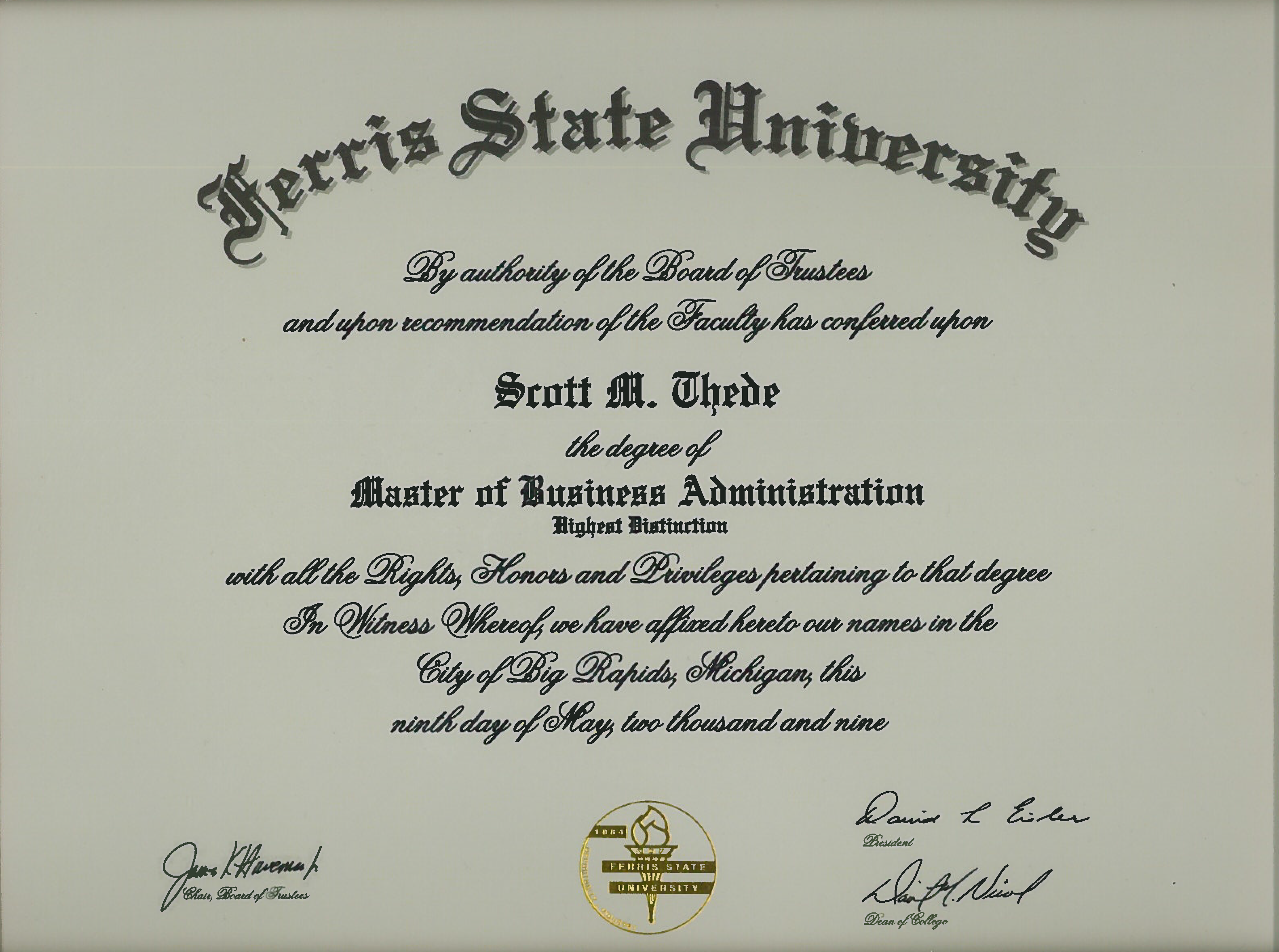 business administration degree plan